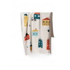 Fabliek veľká detská deka domčeky